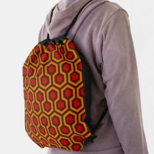 Room237 backpack drawstring orange retro 1970s abstract pattern lifestyle