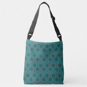 Room237 bag cross-body teal retro 1970s abstract pattern