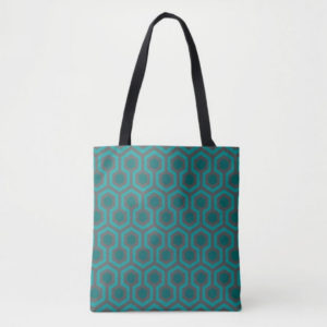 Room237 bag tote teal retro 1970s abstract pattern