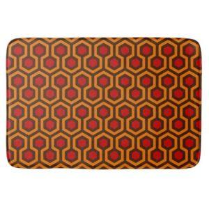 Room237 bath mat orange retro 1970s abstract pattern large