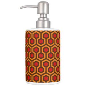 Room237 bath set soap dispenser orange retro 1970s abstract pattern