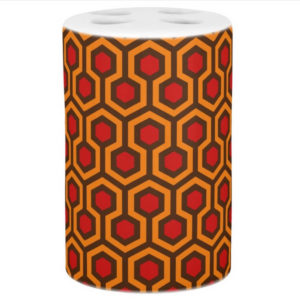 Room237 bath set toothbrush holder orange retro 1970s abstract pattern