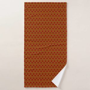 Room237 bath towel orange retro 1970s abstract pattern