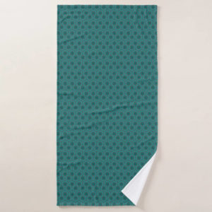 Room237 bath towel teal retro 1970s abstract pattern