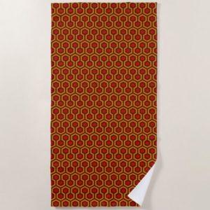 Room237 beach towel orange retro 1970s abstract pattern
