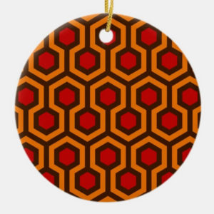 Room237 christmas circle ornament orange retro 1970s abstract pattern