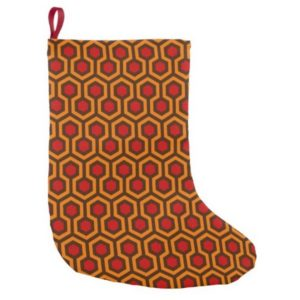 Room237 christmas stocking orange retro 1970s abstract pattern