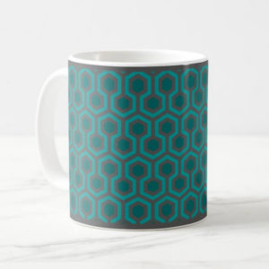 Room237 classic mug teal retro 1970s abstract pattern