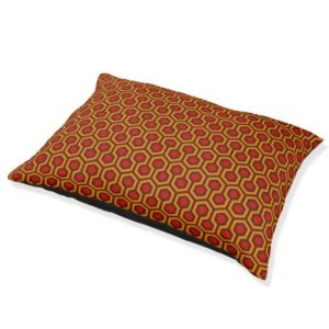 Room237 dog bed orange retro 1970s abstract pattern