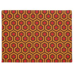 Room237 door mat orange retro 1970s abstract pattern