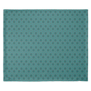Room237 duvet cover king size teal retro 1970s abstract pattern