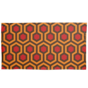 Room237 duvet pillow case king size orange retro 1970s abstract pattern
