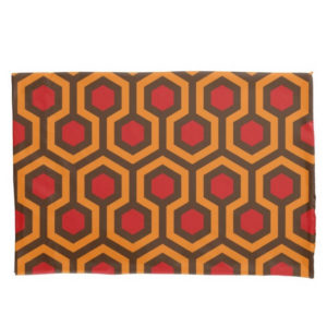 Room237 duvet pillow case standard size orange retro 1970s abstract pattern