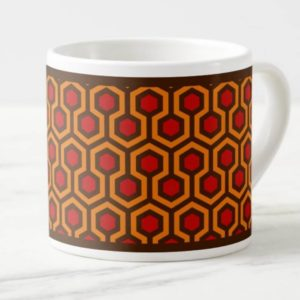 Room237 espresso cup orange retro 1970s abstract pattern angled