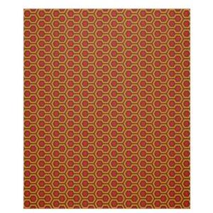 Room237 fleece blanket medium orange retro 1970s abstract pattern