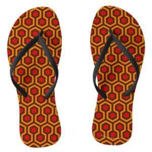 Room237 flipflops ladies orange retro 1970s abstract pattern
