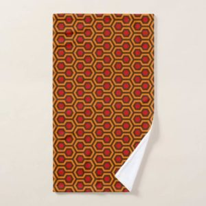 Room237 hand towel orange retro 1970s abstract pattern
