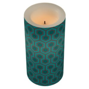 Room237 led lamp candle teal retro 1970s abstract pattern