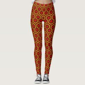 Room237 leggings orange retro 1970s abstract pattern