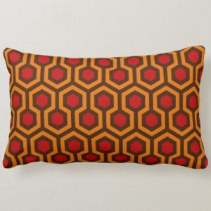 Room237 lumbar pillow orange retro 1970s abstract pattern