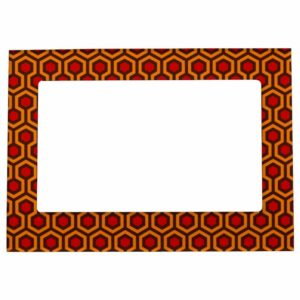 Room237 photo frame magnetic orange retro 1970s abstract pattern