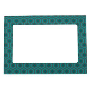 Room237 photo frame magnetic teal retro 1970s abstract pattern
