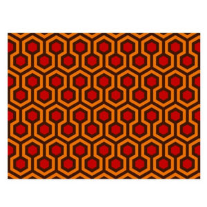 Room237 postcard orange retro 1970s abstract pattern