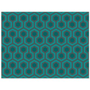 Room237 postcard teal retro 1970s abstract pattern