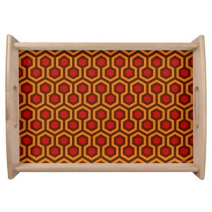 Room237 serving tray orange retro 1970s abstract pattern large