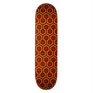 Room237 skateboard orange retro 1970s abstract pattern vertical