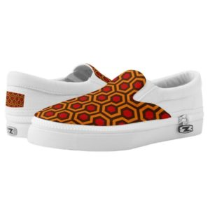 Room237 slip ons shoes orange retro 1970s abstract pattern