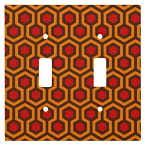 Room237 switch cover orange retro 1970s abstract pattern toggle double