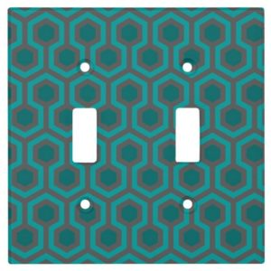 Room237 switch cover teal retro 1970s abstract pattern toggle double