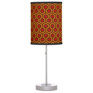 Room237 table lamp stand orange retro 1970s abstract pattern