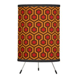 Room237 table lamp tripod orange retro 1970s abstract pattern