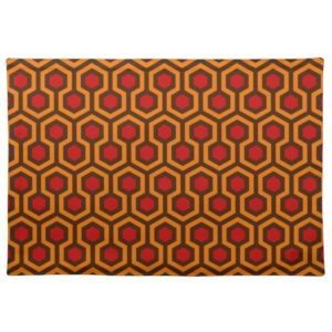 Room237 table placemat cloth orange retro 1970s abstract pattern large