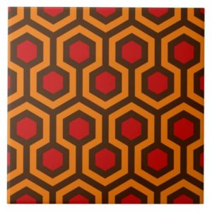Room237 tile 6x6 orange retro 1970s abstract pattern