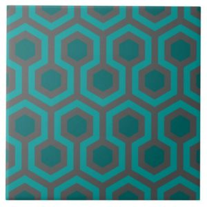 Room237 tile 6x6 teal retro 1970s abstract pattern