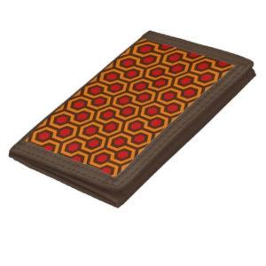 Room237 wallet nylon orange retro 1970s abstract pattern