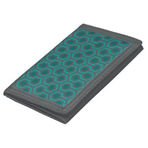 Room237 wallet nylon teal retro 1970s abstract pattern