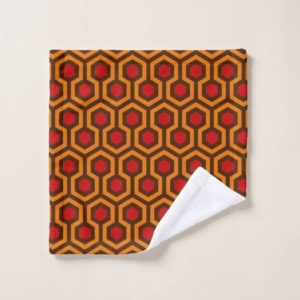 Room237 wash cloth orange retro 1970s abstract pattern