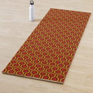 Room237 yoga mat orange retro 1970s abstract pattern lifestyle