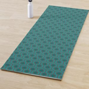 Room237 yoga mat teal retro 1970s abstract pattern lifestyle