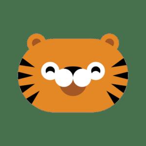 animal friends jungle tiger transparent