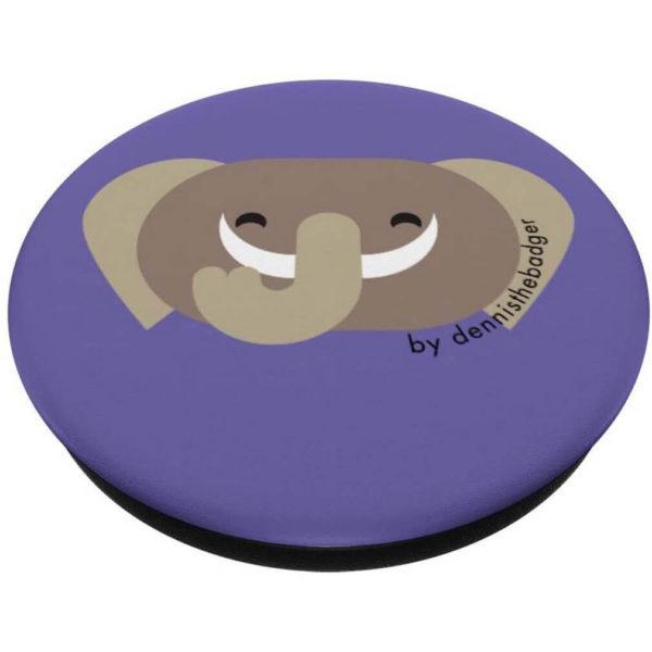 animal friends popsocket elephant purple closed - available on Amazon