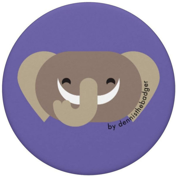 animal friends popsocket elephant purple top - available on Amazon