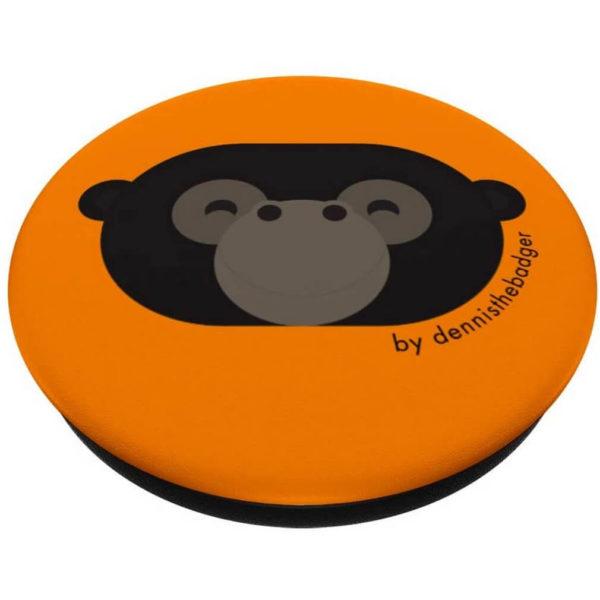 animal friends popsocket gorilla orange closed - available on Amazon