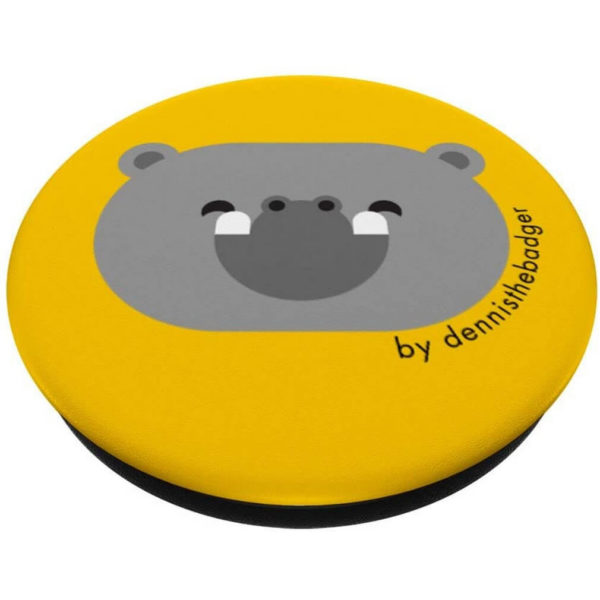 animal friends popsocket hippo yellow closed - available on Amazon