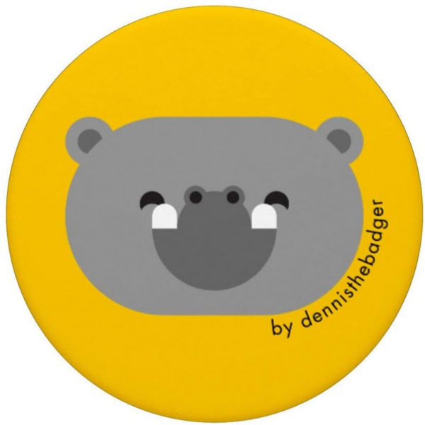 animal friends popsocket hippo yellow top - available on Amazon
