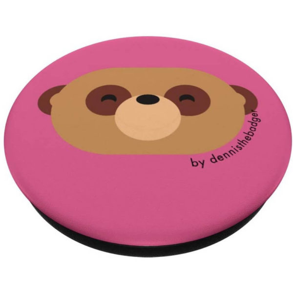 animal friends popsocket meerkat pink closed - available on Amazon
